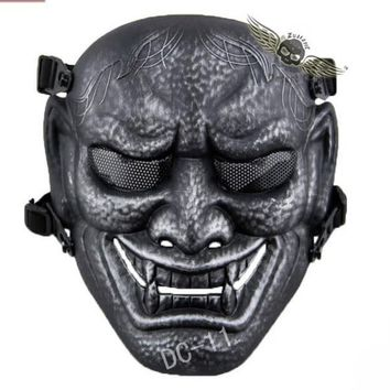 Tactical Mask DC11 Japanese Ghost King Samurai Airsoft Full Face Mask Party Cosplay Horror Hunting Protect Scarves