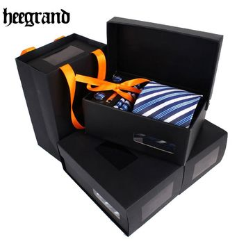 Men's- Necktie- With Matching Cufflink And Handkerchief Box Set. 10 Sets To Choose From.