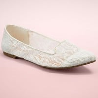 LC Lauren Conrad Runway Collection Lace Women's Smoking Flats