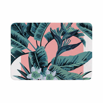 "Kess Original ""Monstera"" Nature Pop Art Memory Foam Bath Mat"