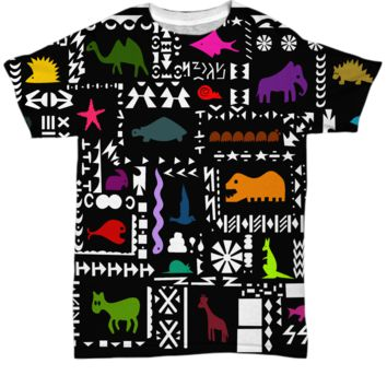 Abstract Animal Art T-shirt