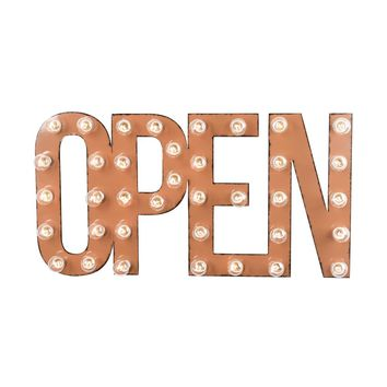 OPEN Marquee Sign