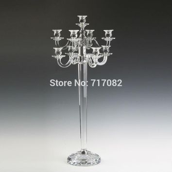 Tall 9 Branch Cystal Candelabra Table Centerpiece