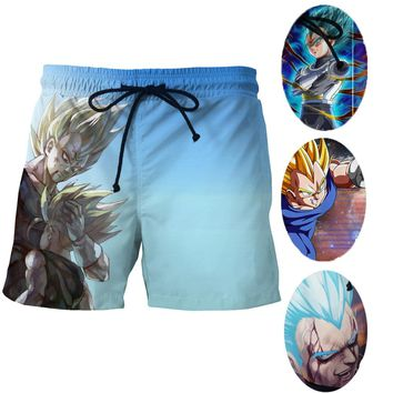 Super Saiyan God Vegeta 3d Print Surf Shorts Men Sports Mesh Short Pants Dragon Ball Z Vegeta Beach Shorts Thin Plus Size S-4XL