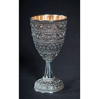 All Silver Filigree Kiddush Wine Cup