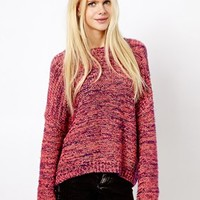 Monki Crew Neck Multicolour