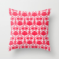 Blossomy Throw Pillow by All Is One