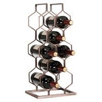 Danya B™ 8 Bottle Electroplated Wine Rack Copper