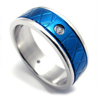 Men & Woman's Couples Ring Made of Titanium Steel 316L Jewelry-Size 8