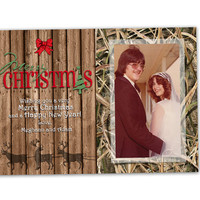 Camo Christmas Cards - Camouflage Photo Christmas Card Set - Reindeer Christmas Cards - Hunter Christmas Card - Photo Holiday Cards Rustic