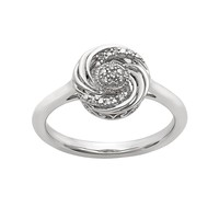 Simply Vera Vera Wang Diamond Accent Sterling Silver Swirl Ring (White)