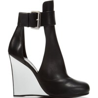 McQ Beck Metallic Cutout Wedge Booties | Bloomingdales's