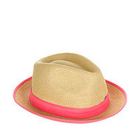 Neon Contrast Hessian Trilby Hat | Nude | Accessorize