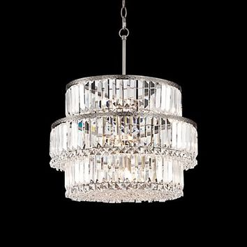 "Magnificence 20 1/2"" Wide Halogen Light Crystal Chandelier - #1D964 