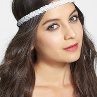 Carole Braided Bead Headband (Juniors) | Nordstrom