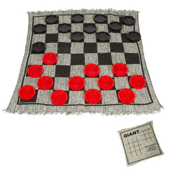 Giant Checkers Game Rug by Trademark Innovations