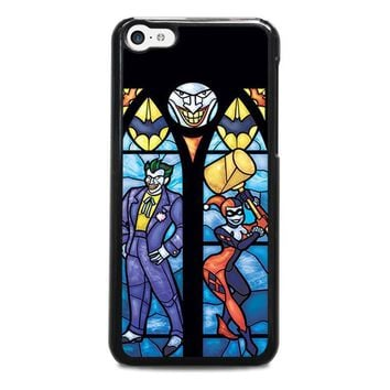 joker and harley quinn art iphone 5c case cover  number 1
