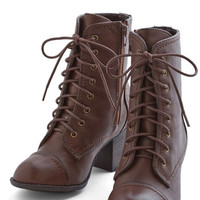 ModCloth Menswear Inspired No Place Stride Rather Be Boot in Brown