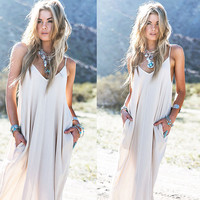 Fashion Hippie Women Summer Boho Long Maxi Party Dress Beach Dresses Sundress