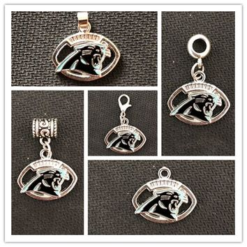 Football Team Carolina Panthers Charms Pendant  For DIY Necklace & Bracelet & Earring & Key Chain 10pcs/lot