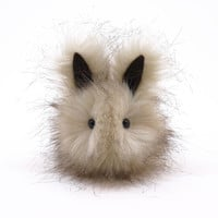 Pearl Bunny Faux Fur Stuffed Toy Plushie -Small Size