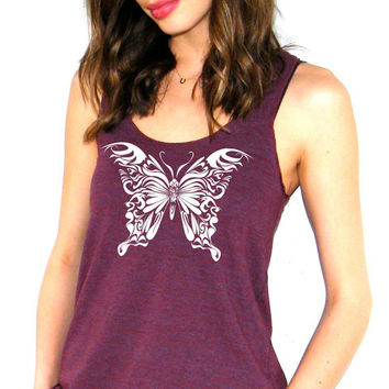 Butterfly - American Apparel Racerback Tank Top - XS, Small, Medium, Large