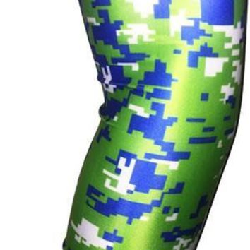 ARM SLEEVE ● Lime Green Blue White Digital Camo
