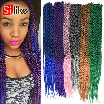 "22"" Ombre Synthetic Hair Extensions Senegalese Twists Crochet Braids Hair Havana Mambo Twist Long Length 2 Tone Colour"