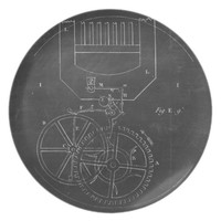 Industrial Engineering Chalkboard 2 Dinner Plate