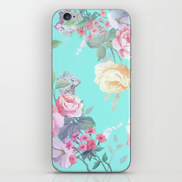 Floral pattern iPhone Skin by printapix