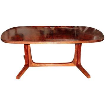 Pre-owned Mid-Century Rosewood Dining Table and Six Chairs