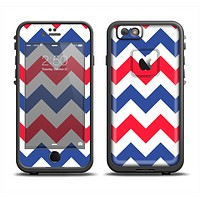 The Patriotic Chevron Pattern Apple iPhone 6/6s LifeProof Fre Case Skin Set