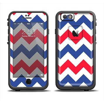 The Patriotic Chevron Pattern Apple iPhone 6 LifeProof Fre Case Skin Set