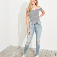 Girls Hollister Extreme Stretch High-Rise Extreme Skinny Jeans | Girls Bottoms | HollisterCo.com