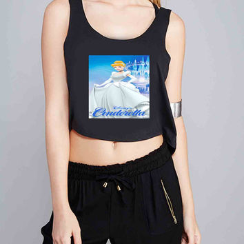 disney cinderella for Crop Tank Girls S, M, L, XL, XXL *07*