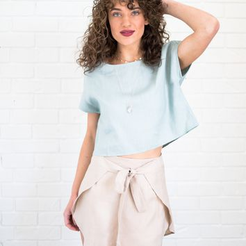 Wrap Front Tulip Skirt