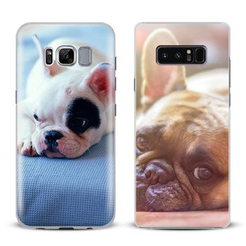 French Bulldog Puppy Coque Phone Case Cover For Samsung Galaxy S4 S5 S6 S7 Edge S8 S9 Plus Note 8 2 3 4 5 A5 A7 J5 2016 J7 2017