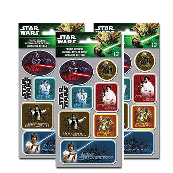 Star Wars Saga Fabric Stickers [3 Packs]