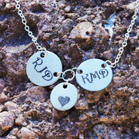 Personalized Couples Necklace - Family Necklace - Initials Necklace - Best Friend Necklace - Christmas Gifts - Personalized Engraved Jewelry