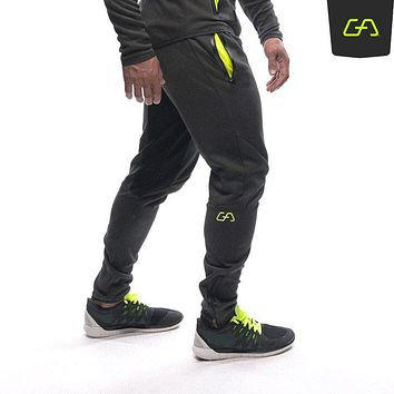 Pro Men's Bottoms Skinny Joggers Fitness Trousers Fit Sportwear Gyms Pants Casual Trousers Cotton Muscle Sportwear P