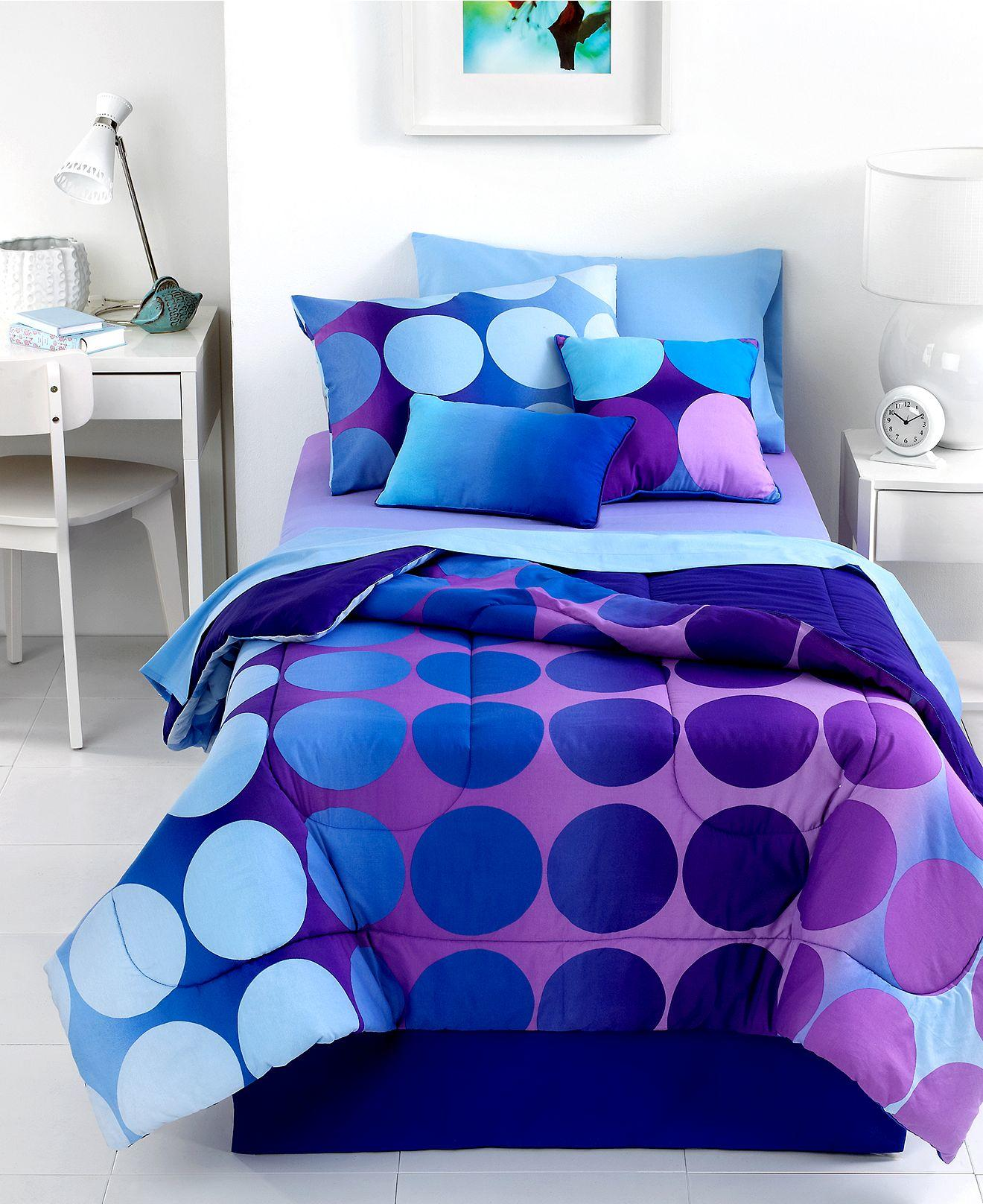Dot Allure 3 Piece Twin Comforter Set From Macys