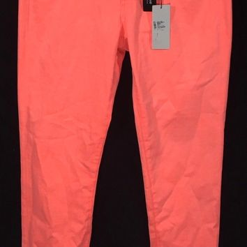 Adriano Goldschmied AG Jeans The Stilt Cigarette Leg Bright Coral Pink Womens 30R Original Tags - New With Defect