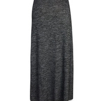 Marled Fold Over Maxi Skirt | Wet Seal
