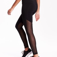 Mesh-Panel Compression Leggings