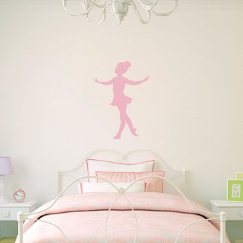 Little Ballerina Decal - Girl Bedroom Decor - Dancing Wall Art - Ballet Sticker