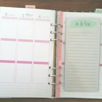Planner to do list dashboard, page marker, fits most planners, Erin Condren, Bando, Day Designer, filofax