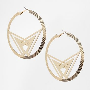 ASOS World Hoop Earrings