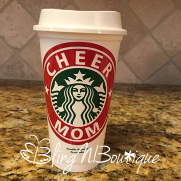 Cheer Mom Starbucks Cup