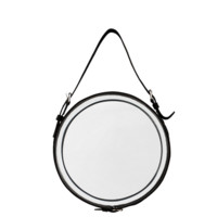 Eichholtz Black Leather Mirror