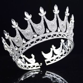 Queen Tiaras Crowns Wedding Hair Jewelry Bridal Diadem Hair Ornaments Cosplay